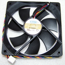 120mm PC Fan  AVC DA12025B12L 12V 0,30A 4-pin PWM Ball Bearing