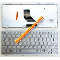 Клавиатура за Toshiba mini NB305 NB300 NB200 NB205 Сребриста с рамка