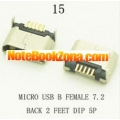 Micro USB 2.0 socket connector