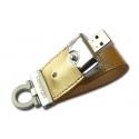 2 GB PRESTIGIO Leather Flash Drive GOLD